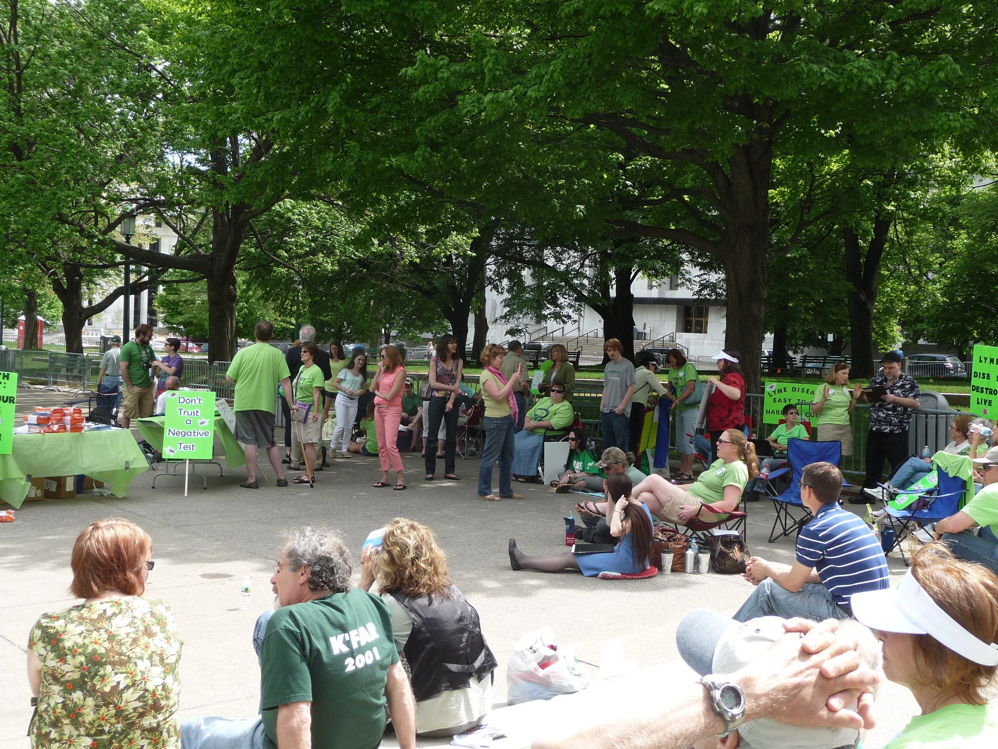 Albany NY Worldwide Lyme Protest Photo Credit: Eric Rutalante