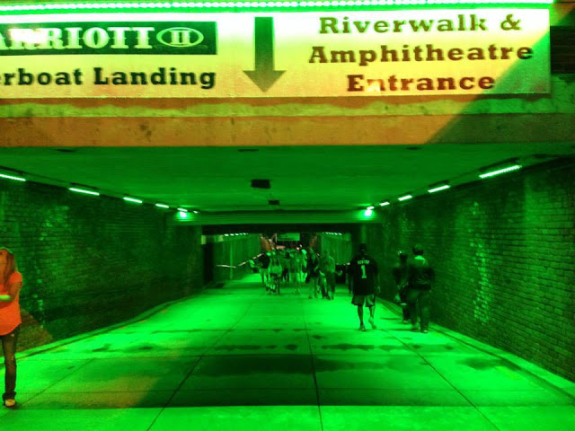 The Riverfront Lights up Green for Lyme Awareness Photo Credit: Kevin Wolfe