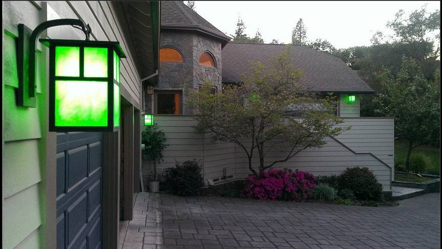 Green Porch Lights for Lyme Awareness