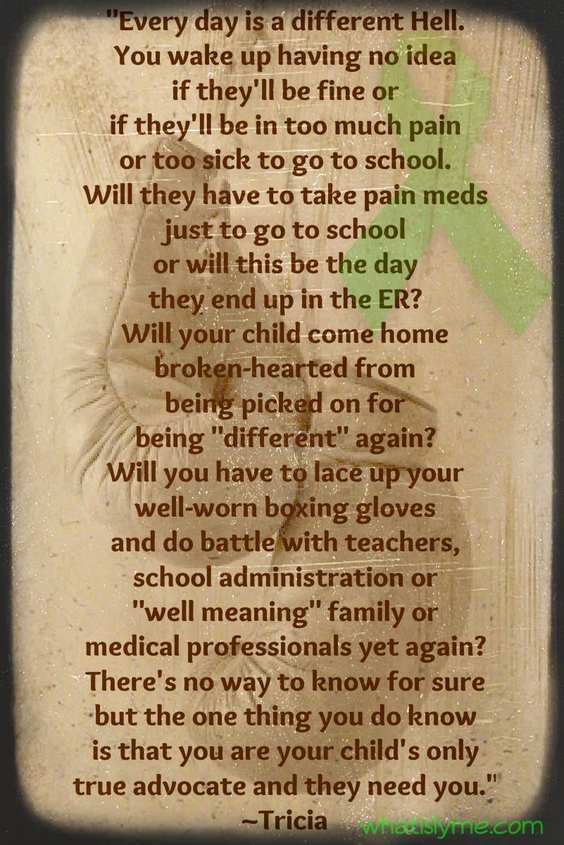 Words from a Mom who's Child has Lyme.