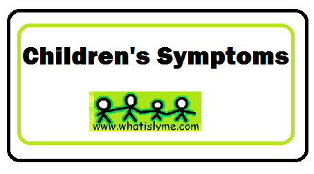 childrens lyme symptoms
