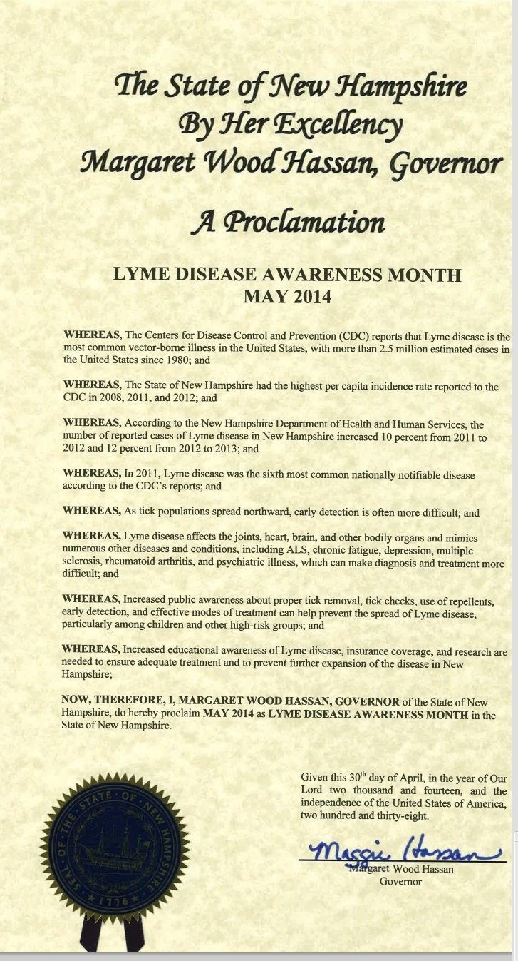 New Hampshire Lyme Proclamation