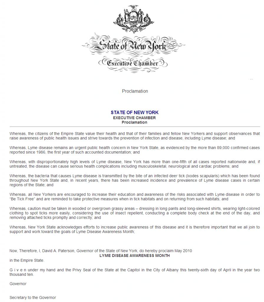 newyork proclamation