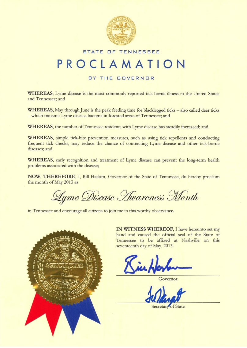 Tennessee Proclamation