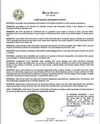 Florida May is Lyme Disease Awareness Month Proclamation