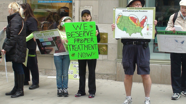 Protesters yell for Lyme Disease Awareness Photo  from WWLDAP 2013
