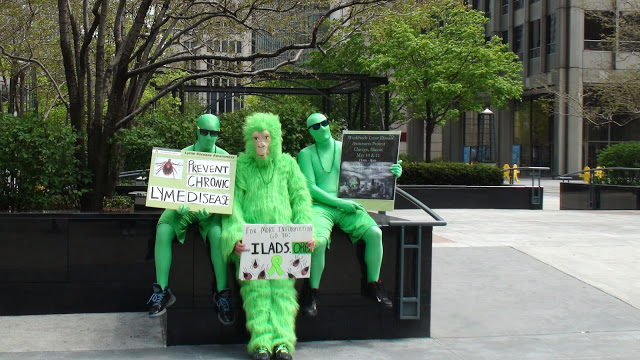 Green Men and Green Gorilla Protest for Lyme Awareness! Photo from WWLDAP 2013