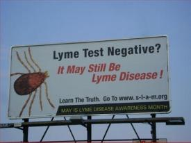 As part of Lyme Awareness Month activities, the advocacy group SLAM--Sturbridge Lyme Awareness of Massachusetts--has put up a billboard. More Information at LymeDisease.org