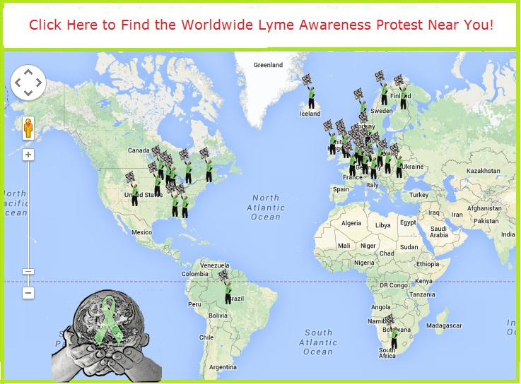 Worldwide Lyme Disease Awareness Protest Map 2014