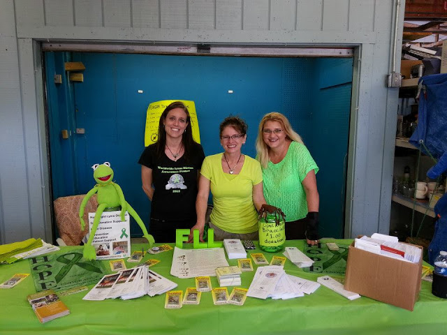 Florida Flea Worldwide Lyme Awareness Booth