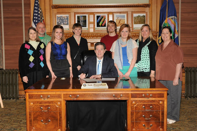 "Governor Brownback Proclaims May as ""Tick-Borne Disease Awareness Month"" at a public signing. The first in the history of Lyme Disease Awareness in Kansas! 2013"