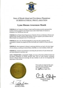 Rhode Island May is Lyme Disease Awareness Month