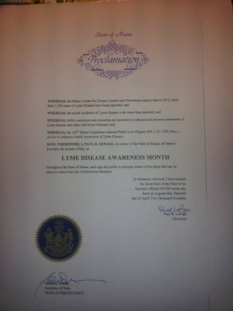 May is Lyme Disease Awareness Month Proclamation