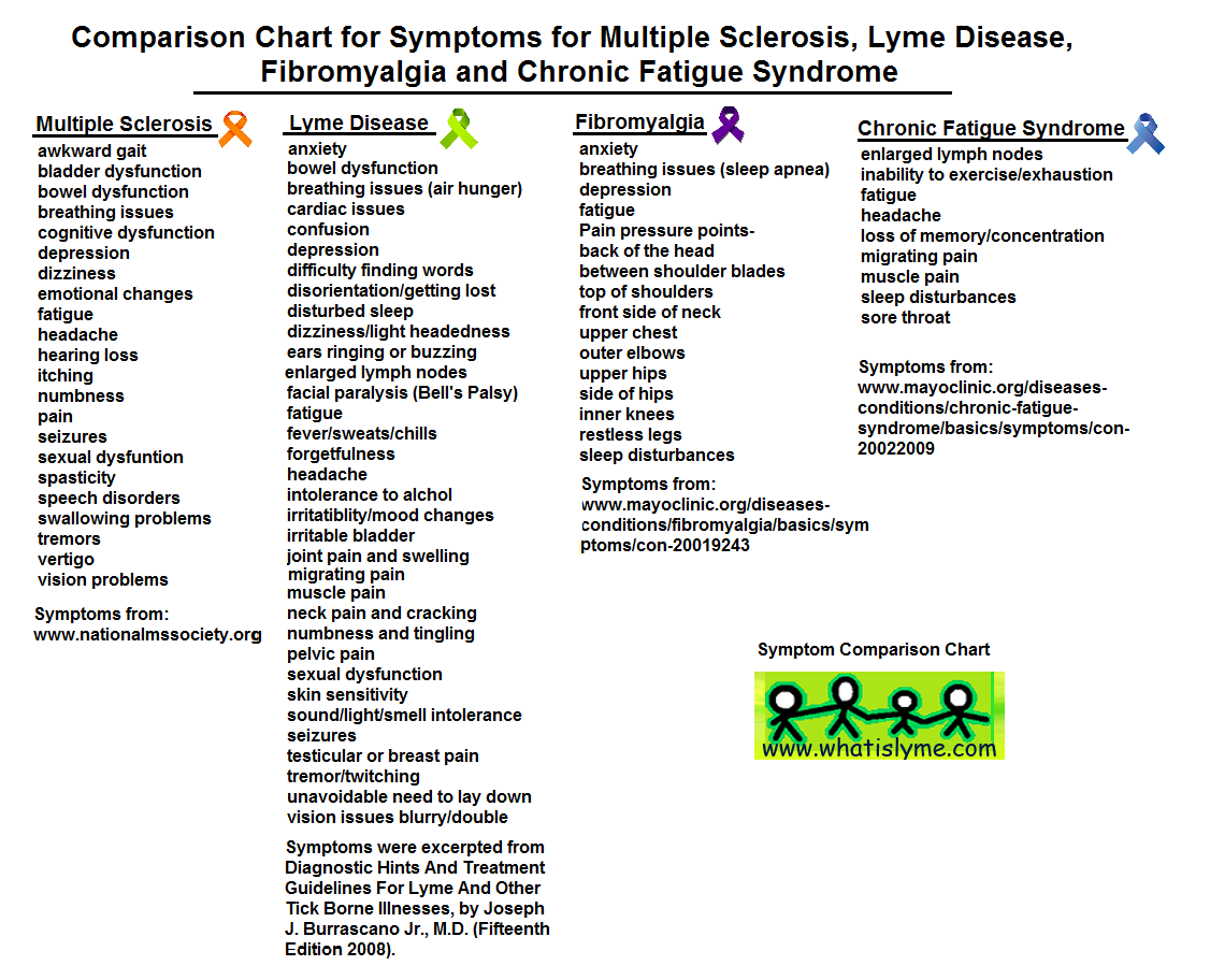 lyme disease and ms symptoms