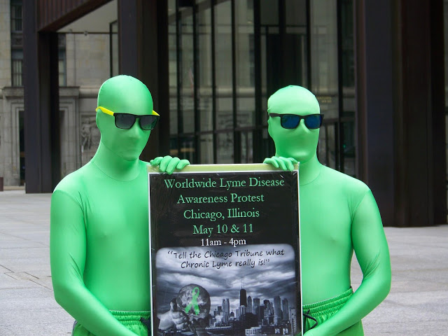 Greenmen at the Worldwide Lyme Disease Rally in Chicago Photo Credit: Jacqi Euler