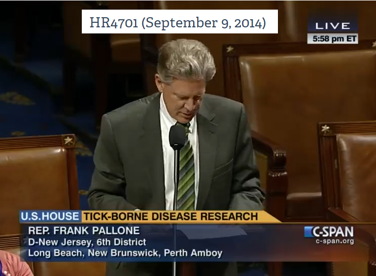 Video from C Span for the passing of Bill HR4701 (September 9, 2014)