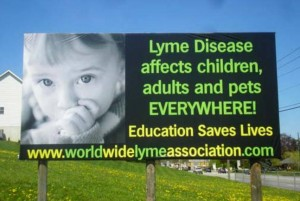 Billboard put up for the Worldwide Lyme Protest 2014 in Chambersburg Pennsylvania