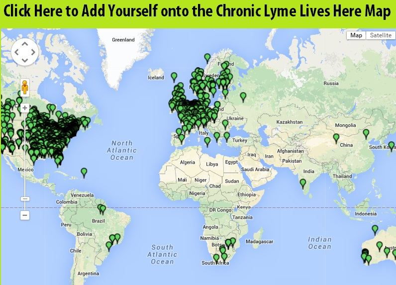 Add Yourself To The Chronic Lyme Lives Here Map