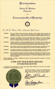Kentucky Lyme Proclamation