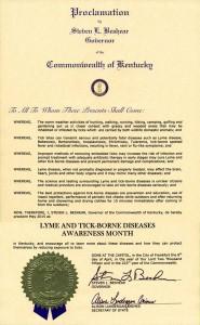 Kentucky Lyme Proclamation