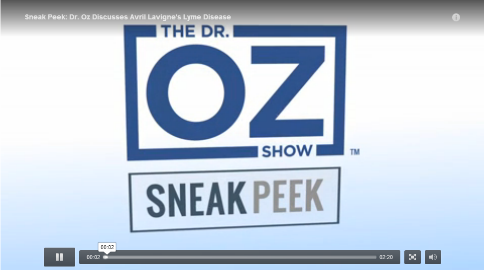 Dr Oz on lyme disease