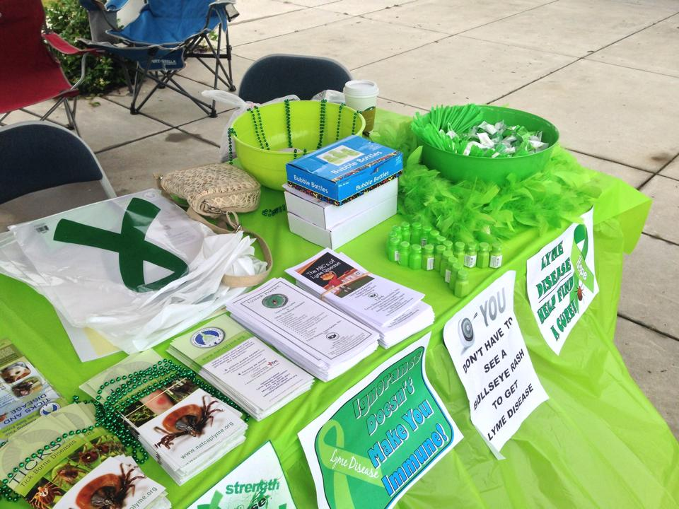 info booth at south caroline worldwide lyme protest