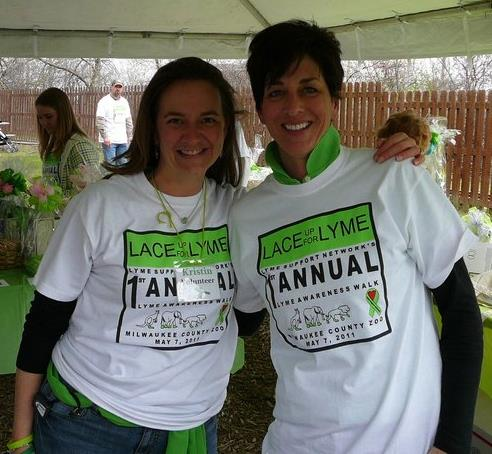 Kristin and Deb (Maker of the Lyme Flags)