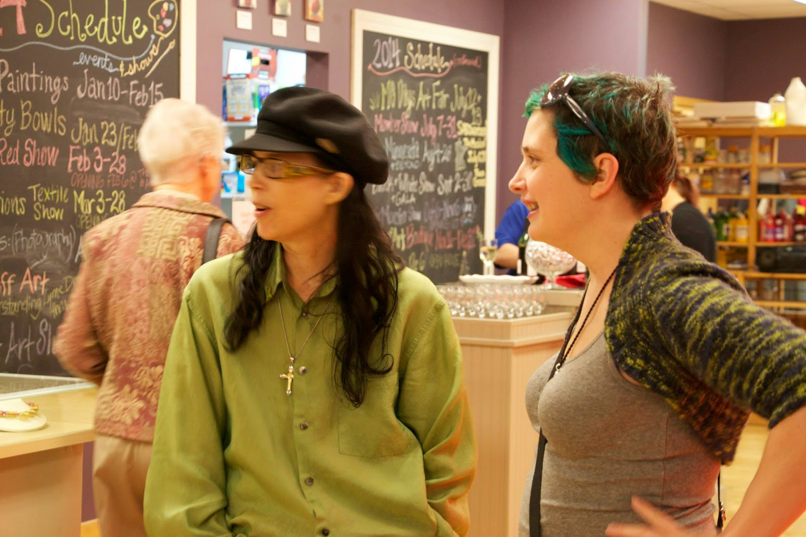 Vicki with a friend at the Minnesota Lyme Art Show