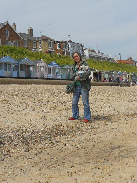 KB and Denise Longman at Southwold Beach, United Kingdom.