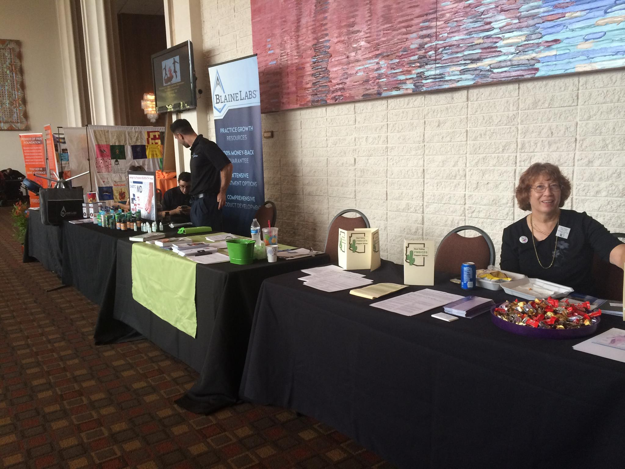 "Lyme disease awareness booth at the ""Power of Pain Foundation"""