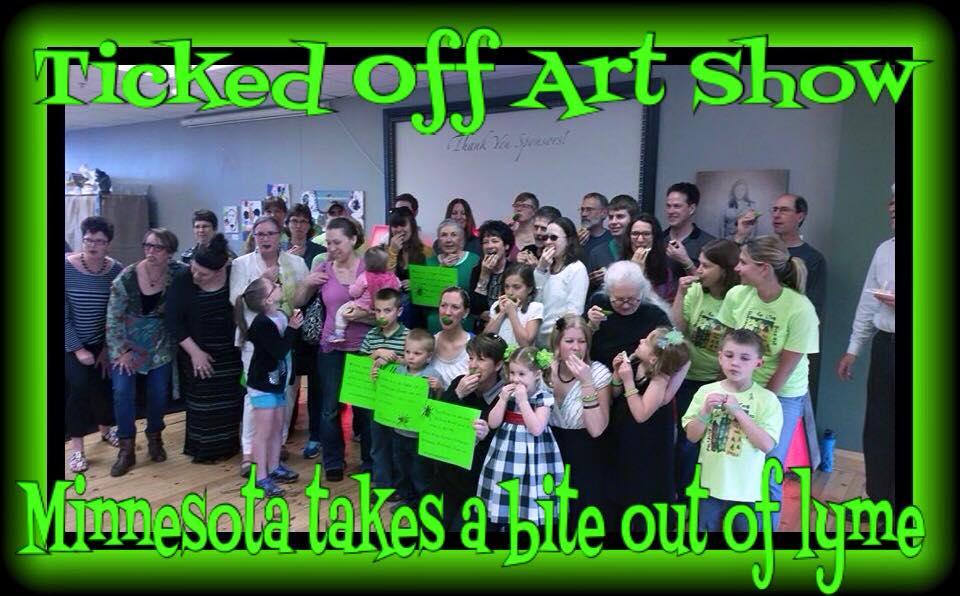 "All the attendees at the ""Ticked Off"" Art Who, ""Taking a Bite out of Lyme"" for The Lyme Challenge."