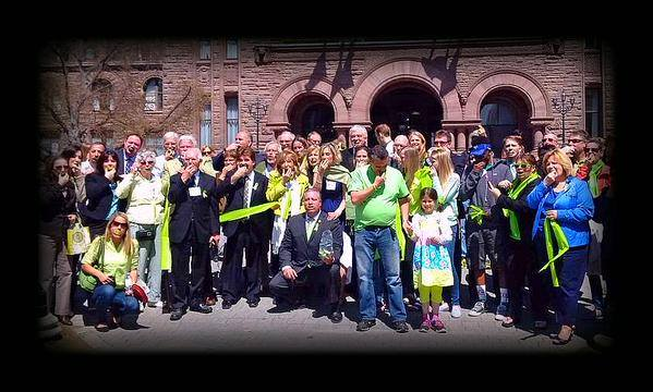 "May 6, 2015 Queens Park Lyme Bill Question period in Parliament. All of us doing ""The Lyme Challenge."""