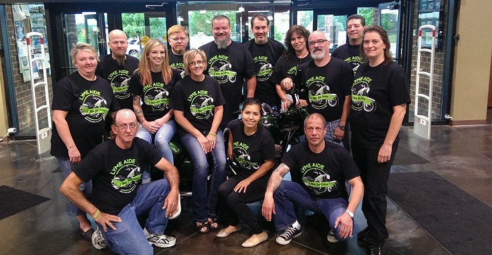 Everyone supporting the Bike Run put together for Erica Valker by Shannon and Brian.