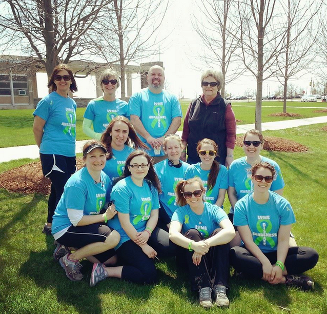 """Students at the University of Concordia put together a charity walk with proceeds going to the Wisconsin Lyme Network."" From Gabbi'"