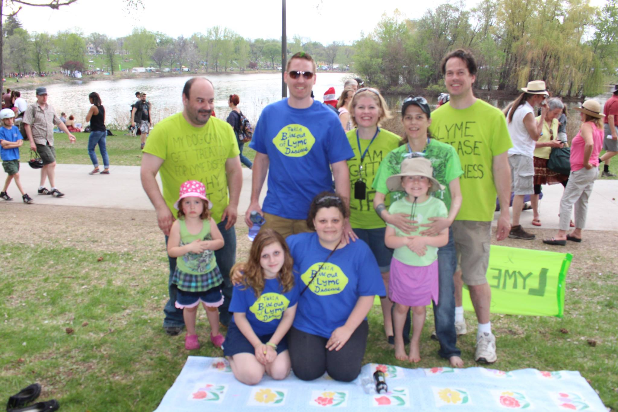 Vicki and Kara:  Lyme Disease Awareness at Minneapolis May Day Festival