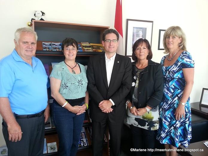 John Sanderson, Marlene, MP Kyle Seeback, Rossana, and Kim