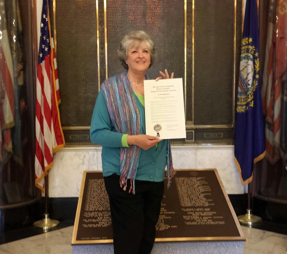 nancySigning of HB363 followed immediately by the signing of the 2015 Proclamation of May 2015 being Lyme Awareness Month in NH.