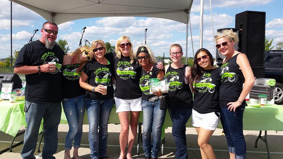 All the ladies having fun while raising money for a Lyme patient. Shannon (third from the right)