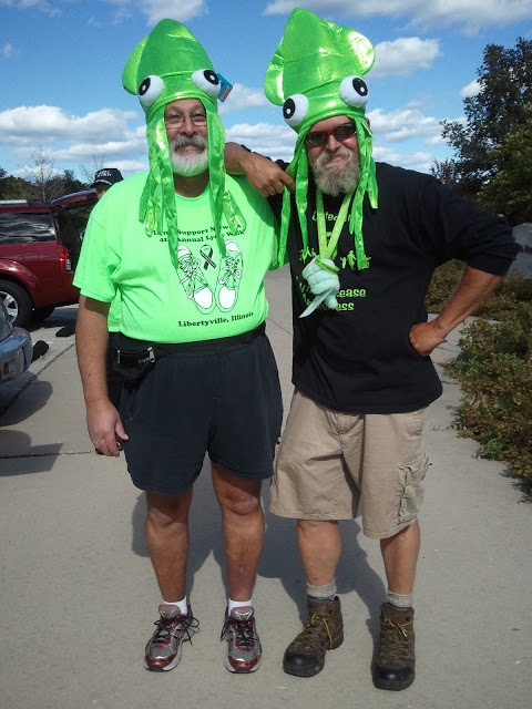 Jim Berger and Dave Marsh at the Illinois, Lyme Support Network walk in 2012.