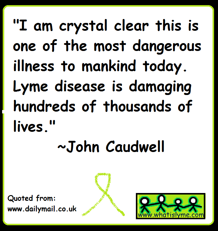 john caudwell talks about lyme diseae