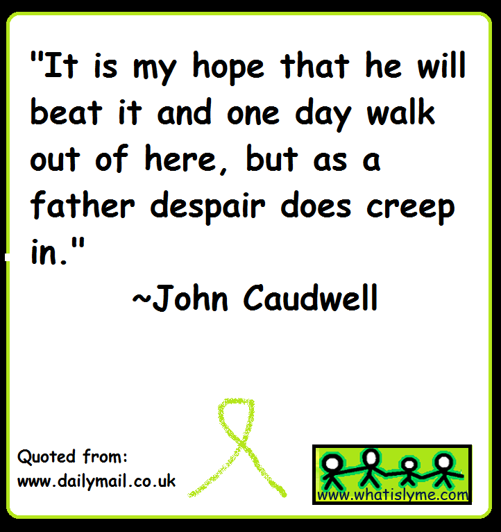 john caudwell talks about lyme