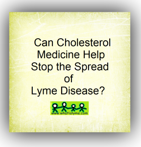 cholesterol med may help stop the spread of lyme disease