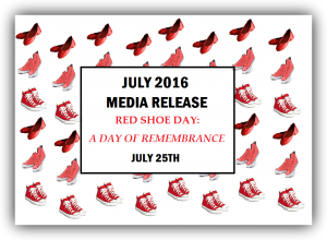 red shoe day media release