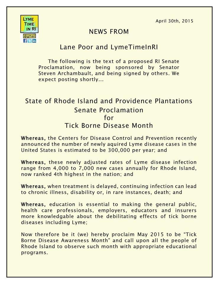 rhode island lyme proclamation